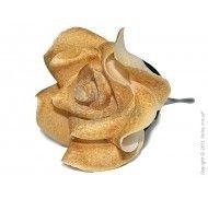 Фигурка  Роза золотая фото цена