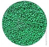 Драже перламутровое темно-зеленое 1-2 мм 1кг.