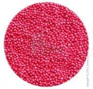 Драже перламутровое розовое 1-2 мм -100 г.