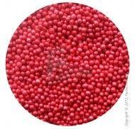 Драже перламутровое красное 1-2 мм - 50 г.