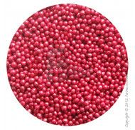 Драже перламутровое вишневое 1-2 мм 1 кг.