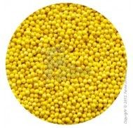 Драже перламутровое желтое 1-2 мм - 100 г.