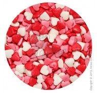 Посыпка Сердечки красно-бело-розовые 1 кг.
