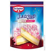 Глазурь со вкусом йогурт/клубника Dr. Oetker 100г