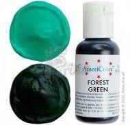 Краситель гелевый Americolor тёмно-зелёный с жёлтым отливом (Forest Green) 21г.