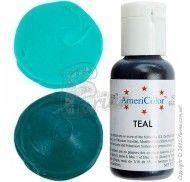 Краситель гелевый Americolor зеленовато-голубой (Teal) 21г. фото цена