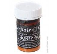 Краситель пастообразный SugarFlair Honey Gold медово-золотой 25г.
