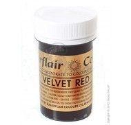 Краситель пастообразный SugarFlair extra Velvet Red бархатно-красный 25г.