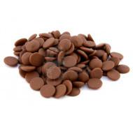 Шоколад молочный кувертюр Lubeca GHANA 37% в виде калет 2,5 кг