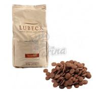 Шоколад молочный кувертюр Lubeca IVORY COAST 35% в виде калет 1 кг фото цена