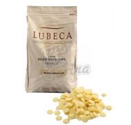 Шоколад белый Lubeca 33% в виде калет 1 кг