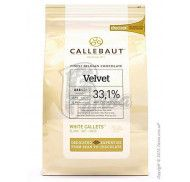 """Шоколад белый """"Callebaut Velvet"""" 32 % какао, каллеты 1 кг"""
