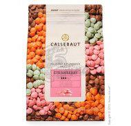 "Шоколад розовый со вкусом клубники ""Strawberry Callebaut Callets"" 30% фото цена"