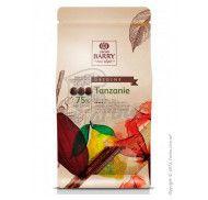 Шоколад черный оригинальный Tanzanie 75% Cacao Barry фото цена