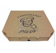 Коробка для пиццы 300x300x33 мм бурая с рисунком фото цена