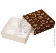 Универсальная коробка для печенья, зефира, маршмеллоу, конфет, макаронс, сувениров, типа пенал с ложементом Сладости 160x160x55 мм