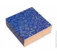 Универсальная коробка типа пенал с ложементом Зимняя синяя 160x160x55 мм