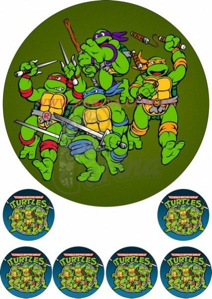 Черепаха ниндзя с рисунками