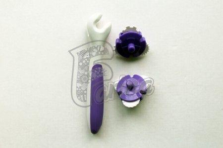 Роликовый нож для мастики бело-фиолетовый< фото цена
