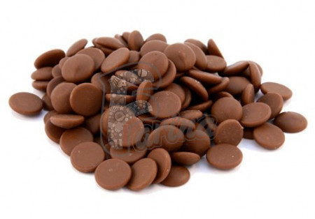 Шоколад молочный кувертюр Lubeca GHANA 37% в виде калет 1 кг< фото цена