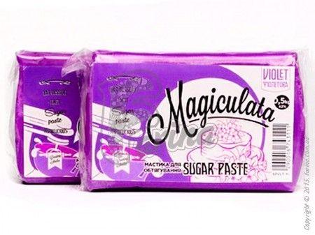 Мастика Magiculata для обтяжки тортов  (универсальная) фиолетовая 1 кг< фото цена
