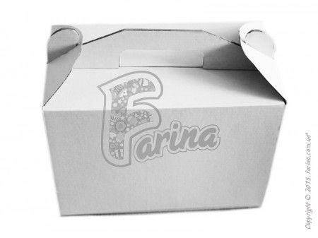 Коробка для торта с ручками 400х300х400 мм, белая< фото цена