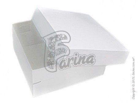 Универсальная коробка  для кондитерских изделий 150x150x70мм, белая< фото цена