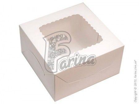 Коробка для десертов, эклеров, зефира  белая 170х170х90мм< фото цена
