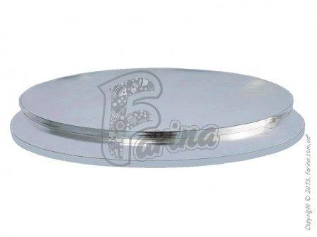 Поднос круглый D 40 см серебро/серебро< фото цена