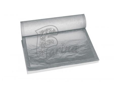 "Декор ""серебряный лист"" 25шт, 8х8 см< фото цена"