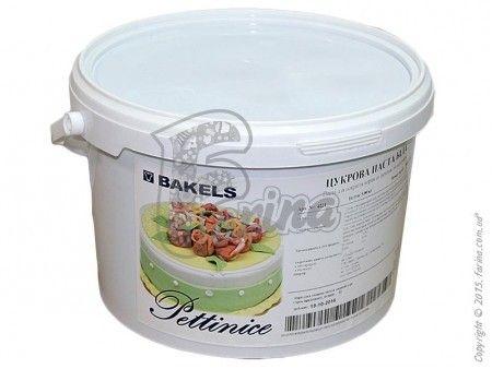 Белая мастика для покрытия торта Bakels Pettinice - 5 кг< фото цена