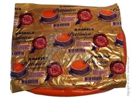 Мастика для покрытия торта Bakels Pettinice (Оранжевая) 1 кг< фото цена