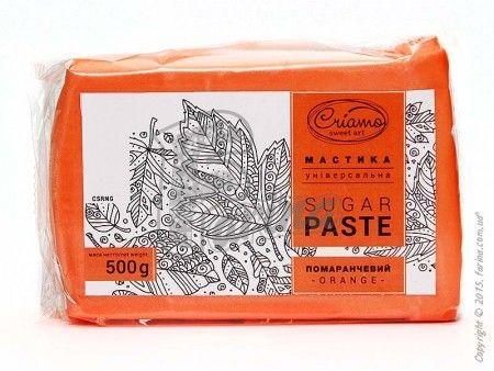 Мастика кондитерская универсальная Criamo Оранжевая  500 г< фото цена