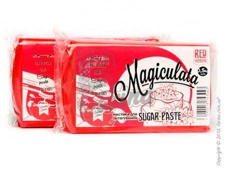 Мастика Magiculata для обтяжки тортов  (универсальная) красная  1 кг< фото цена