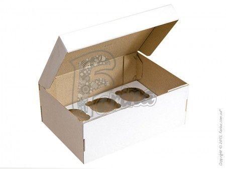 Коробка на 6 кексов 250х175х100 мм с открывающимся передом< фото цена
