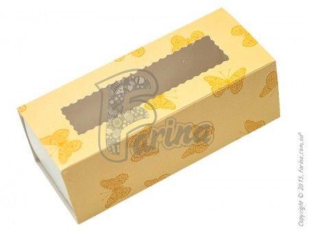 Коробка для макаронс бабочка 141х59х49 mm, мелованный картон< фото цена