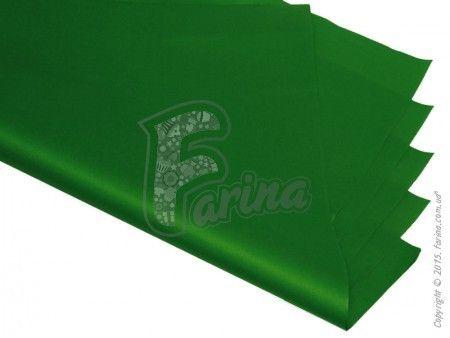 Папирусная  бумага тишью однотонная зеленая 50х75см< фото цена