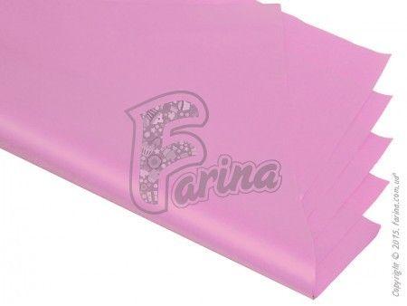 Папирусная  бумага тишью однотонная розовая 50х75см< фото цена