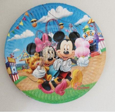 Праздничные тарелки Дисней №4 10шт. 18 см< фото цена