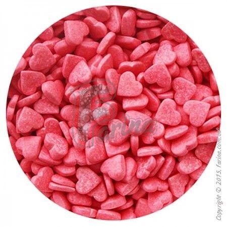Посыпка Сердечки розовые - 100 г.< фото цена