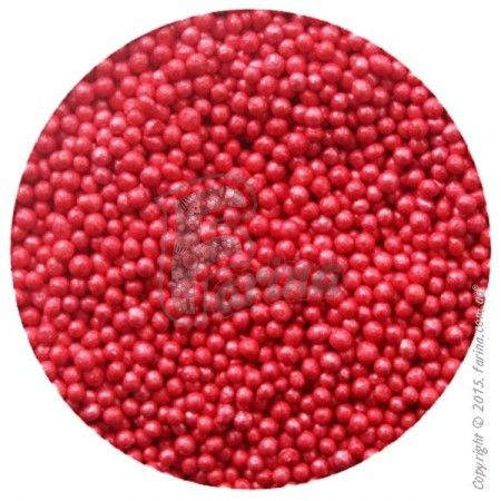Драже перламутровое красное 1-2 мм - 50 г.< фото цена