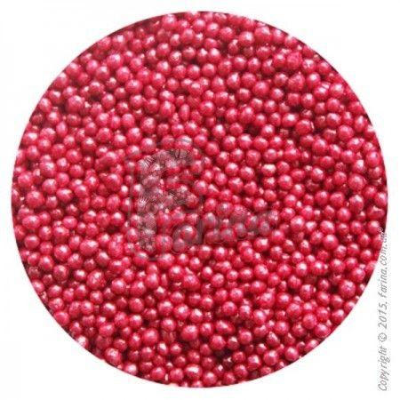 Драже перламутровое вишневое 1-2 мм 1 кг.< фото цена