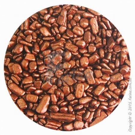 Посыпка шоколадная&quot; Хлопья Бронза&quot; 3-4 мм  20 г.< фото цена