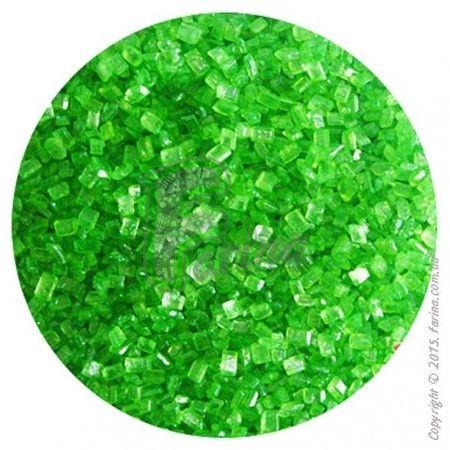 Посыпка декоративная &quot;Сахарные кристаллы Зеленые&quot; 3-4 мм - 100 г.< фото цена