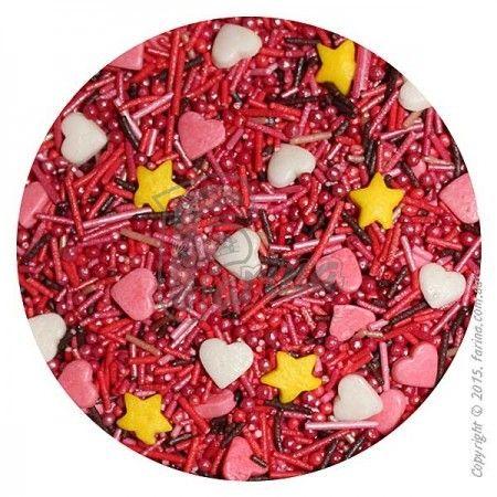 Посыпка декоративная Сердечки № 2  1 кг.< фото цена