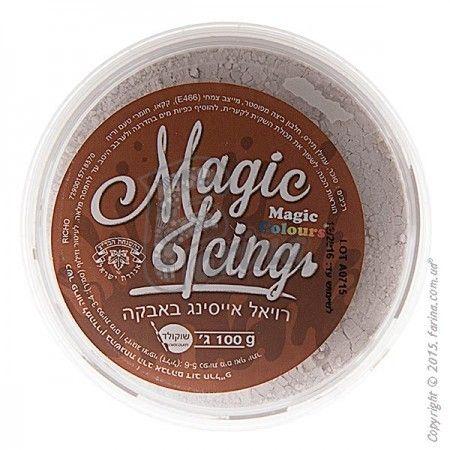 Порошок для приготовления айсинга Magic Icing-100гр-Шоколадный (Chocolate)< фото цена