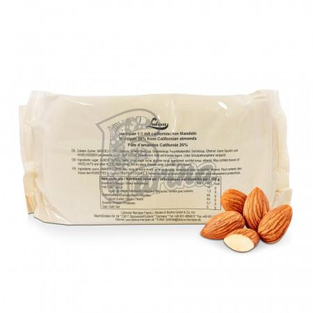 Марципан Lubeca, 26% из калифорнийского миндаля 1 кг< фото цена