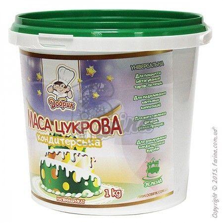 Кондитерская мастика&quot; Добрик&quot;  универсальная зеленая 1 кг< фото цена