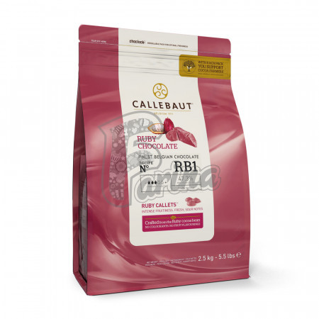 Шоколад Callebaut Ruby RB1 1 кг< фото цена