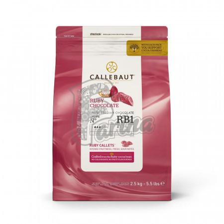 Шоколад Callebaut Ruby RB1 2,5 кг< фото цена